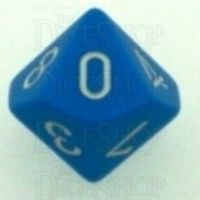 Chessex Opaque Light Blue & White D10 Dice