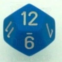Chessex Opaque Light Blue & White D12 Dice