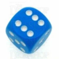 Chessex Opaque Light Blue & White 16mm D6 Spot Dice