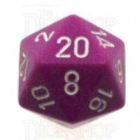 Chessex Opaque Light Purple & White D20 Dice