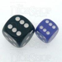 Chessex Opaque Purple & White 12mm D6 Spot Dice