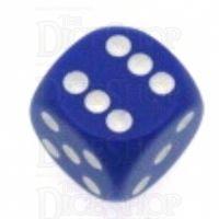Chessex Opaque Purple & White 16mm D6 Spot Dice