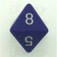 Chessex Opaque Purple & White D8 Dice