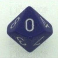 Chessex Opaque Purple & White D10 Dice