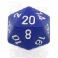 Chessex Opaque Purple & White D20 Dice