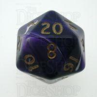 D&G Marble Purple & White D20 Dice