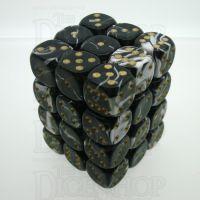 D&G Marble Black & White 36 x D6 Dice Set