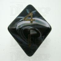 D&G Marble Black & White D8 Dice