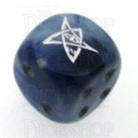 Chessex Phantom Black ELDER SIGN Logo D6 Spot Dice