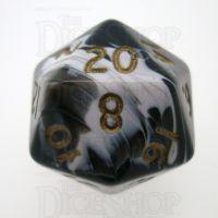 D&G Marble Black & White D20 Dice