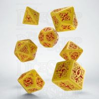 Q Workshop Pathfinder Legacy of Fire Yellow & Red 7 Dice Polyset