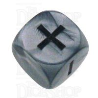 Grey Ghost Olympic Pearl Silver Fudge Fate D6 Dice
