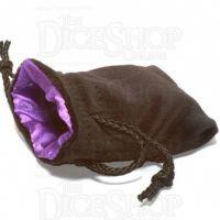 Koplow Velvet Black & Purple LARGE Dice Bag