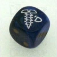 Chessex Gemini Black & Blue SCREWED Logo D6 Spot Dice