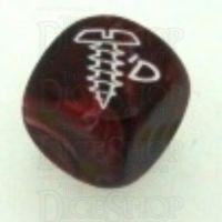 Chessex Vortex Burgundy SCREWED Logo D6 Spot Dice