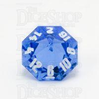 GameScience Gem Sapphire & White Ink D16 Dice