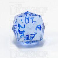 GameScience Gem Ice Blue Moonstone & Blue Ink 24 Sided