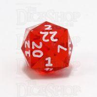 GameScience Gem Ruby & White Ink D24 Dice