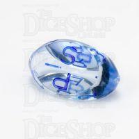 GameScience Gem Ice Blue Moonstone & Blue Ink D3 Dice
