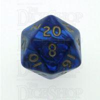 D&G Pearl Blue & Gold D20 Dice