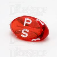 GameScience Gem Ruby & White Ink D3 Dice