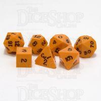 GameScience Opaque Pumpkin & Black Ink 7 Dice Polyset