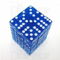 Koplow Transparent Blue Square Cornered 36 x D6 Dice Set