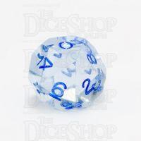 GameScience Gem Ice Blue Moonstone & Blue Ink D10 Dice