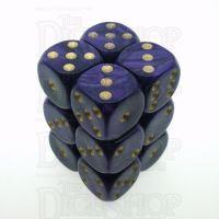 D&G Pearl Purple & Gold 12 x D6 Dice Set