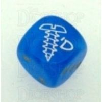 Chessex Velvet Bright Blue SCREWED Logo D6 Spot Dice