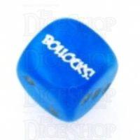 Chessex Velvet Bright Blue BOLLOCKS Logo D6 Spot Dice