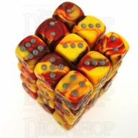 Chessex Gemini Red & Yellow 36 x D6 Dice Set
