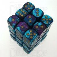 Chessex Gemini Purple & Teal 36 x D6 Dice Set