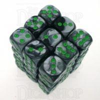 Chessex Gemini Black & Grey 36 x D6 Dice Set