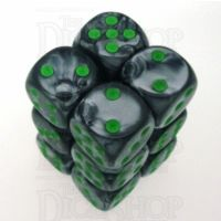 Chessex Gemini Black & Grey 12 x D6 Dice Set