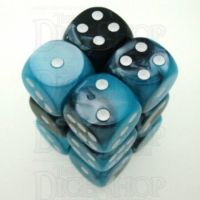 Chessex Gemini Black & Shell 12 x D6 Dice Set
