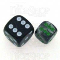Chessex Gemini Black & Grey 12mm D6 Spot Dice