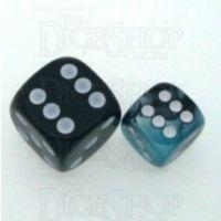 Chessex Gemini Black & Shell 12mm D6 Spot Dice