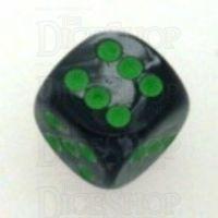 Chessex Gemini Black & Grey 16mm D6 Spot Dice