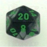 Chessex Gemini Black & Grey D20 Dice