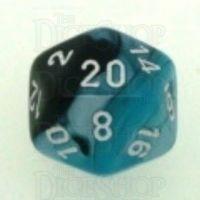 Chessex Gemini Black & Shell D20 Dice