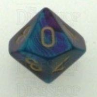 Chessex Gemini Purple & Teal D10 Dice