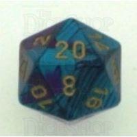Chessex Gemini Purple & Teal D20 Dice