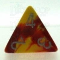 Chessex Gemini Red & Yellow D4 Dice