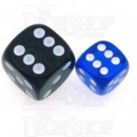 Chessex Translucent Blue & White 12mm D6 Spot Dice
