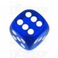 Chessex Translucent Blue & White 16mm D6 Spot Dice
