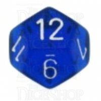 Chessex Translucent Blue & White D12 Dice