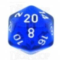 Chessex Translucent Blue & White D20 Dice