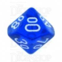 Chessex Translucent Blue & White Percentile Dice