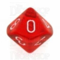 Chessex Translucent Red & White D10 Dice